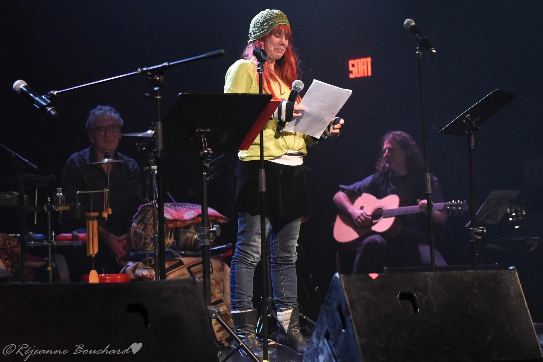 Nuit de la poésie 25 octobre 2018 Christian Paré, Chloé Sainte-Marie et Frédéric Dufour
